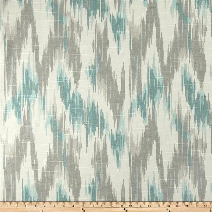 Fabrics Home Accents Casbah Ikat Slub Opal I Fabric Com