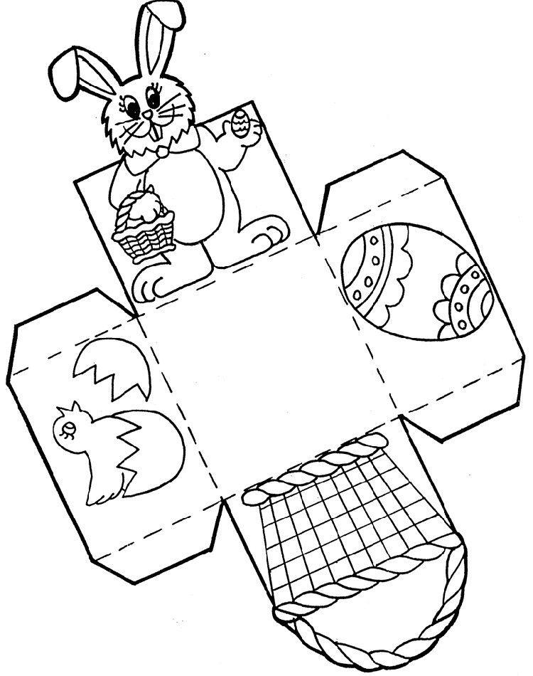 Osterkorbchen Basteln Bastelvorlage Fur Kinder Spring Easter Bastelvorlagen Ostern Basteln Ideen Ostern Ausmalbilder Ostern