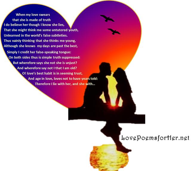 love poems for her william shakespeare love sonnet