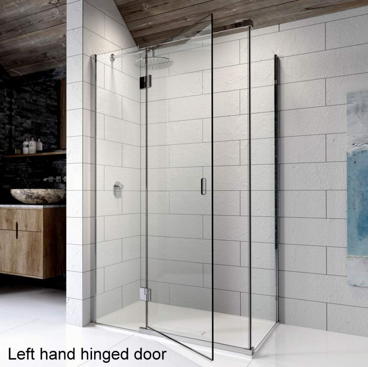 Kudos Pinnacle 8 Hinged Shower Door For Corner Frameless Shower Doors Shower Enclosure Shower Doors