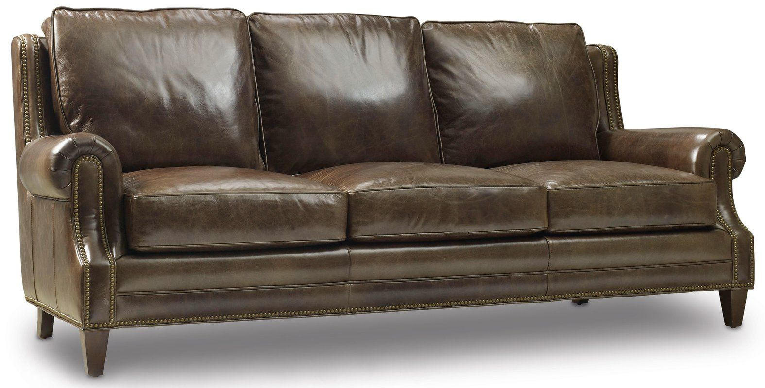 Houck Genuine Leather 86 5 Rolled Arm Sofa Genuine Leather Sofa Leather Sofa Leather Furniture