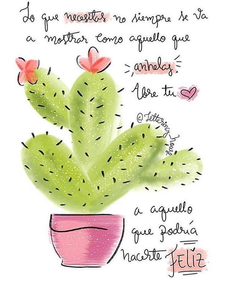 Buen día 😍💘💫 Sigue a @tentuestilo para ver más frases bonitas (y a la moda) 💕 . . . . . #medit… | Frases de cactus, Frases bonitas de motivacion, Frases bonitas