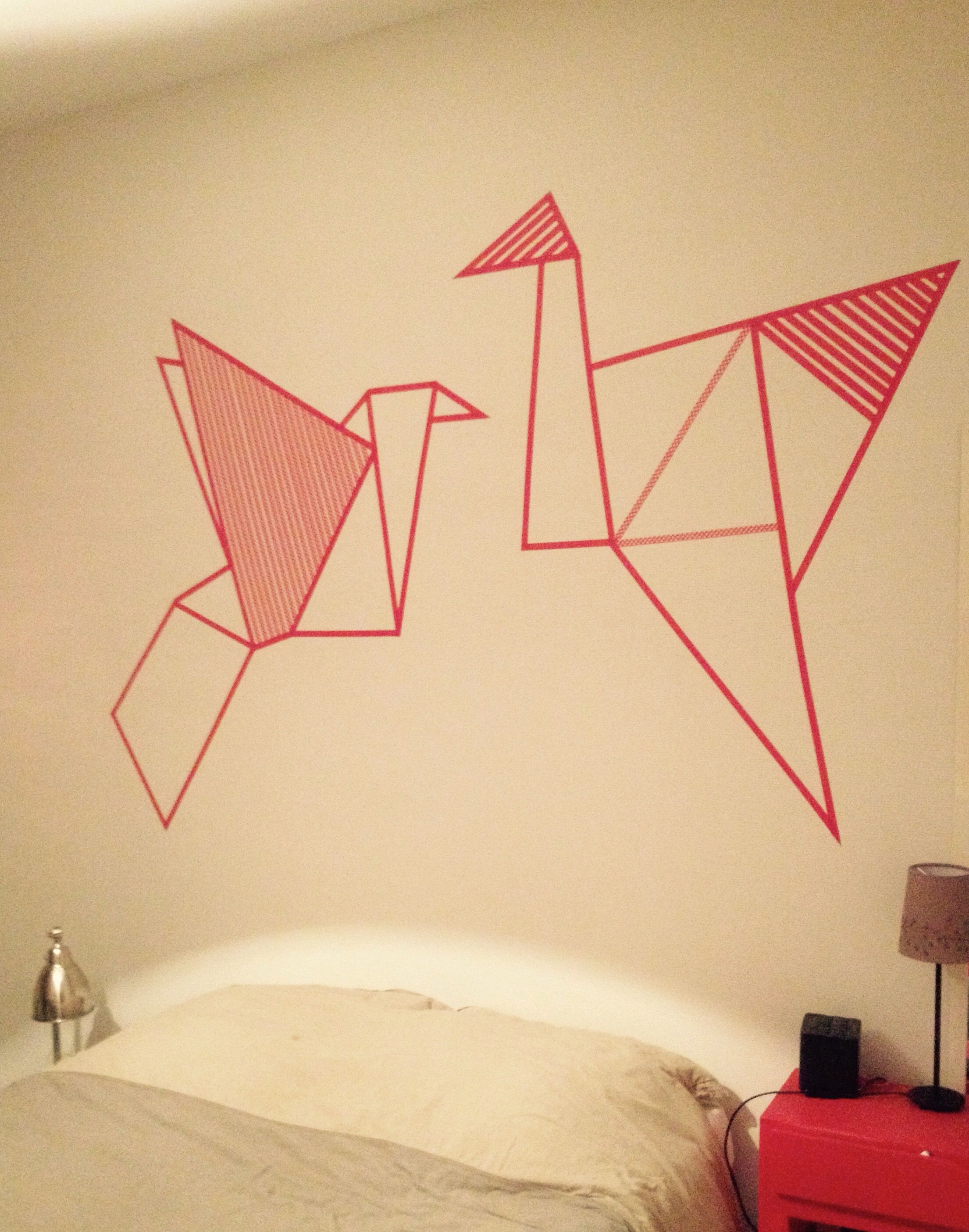Contemporary Masking Tape Wall Art Gallery - The Wall Art ...