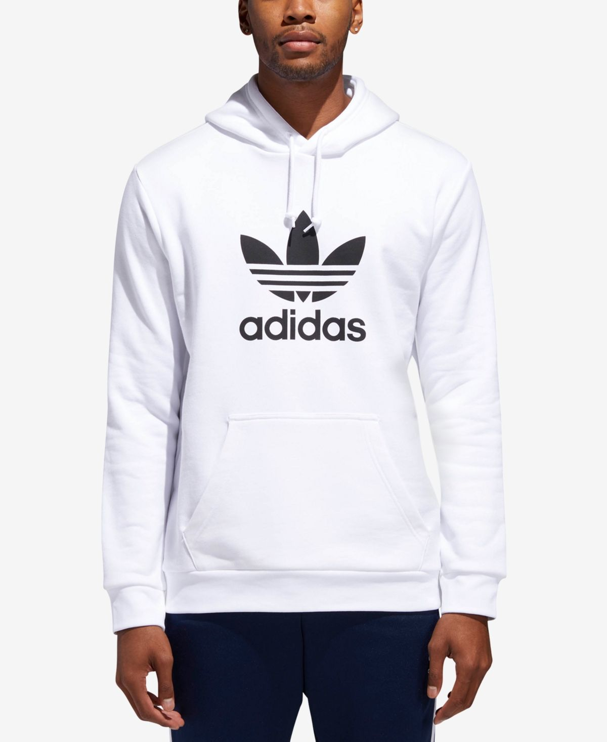 Adidas Men S Treifoil French Terry Hoodie Reviews Hoodies Sweatshirts Men Macy S In 2020 Adidas Men Mens Sweatshirts French Terry Hoodie
