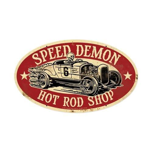 SPEED DEMON HOT ROD SHOP CARTEL VINTAGE