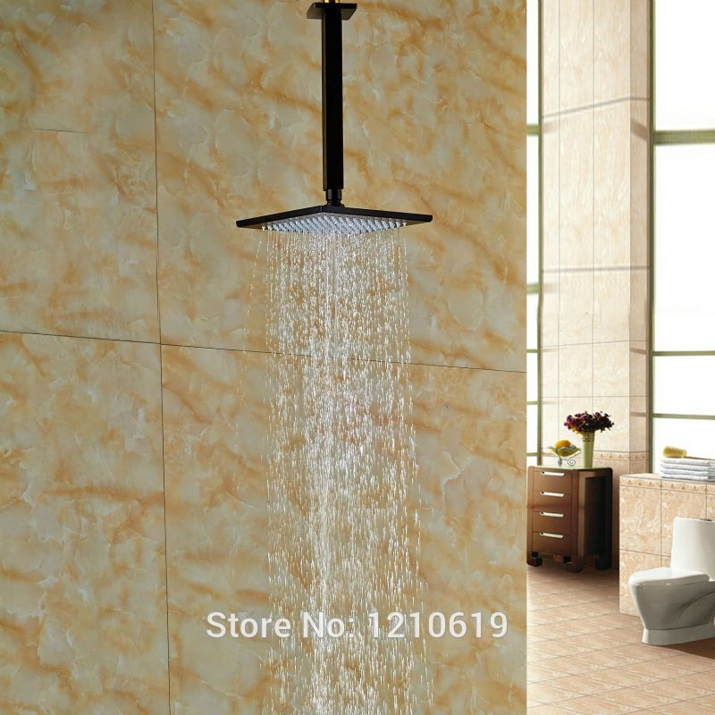 Newly Ceiling Mounted Bathroom 8 Shower Head W Arm Oil Rubbed