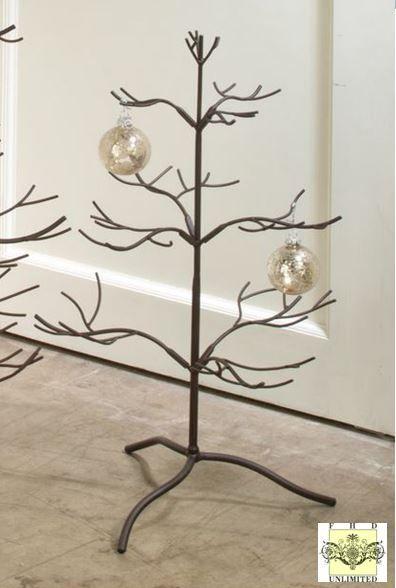 Ornament Tree Brown Natural 25
