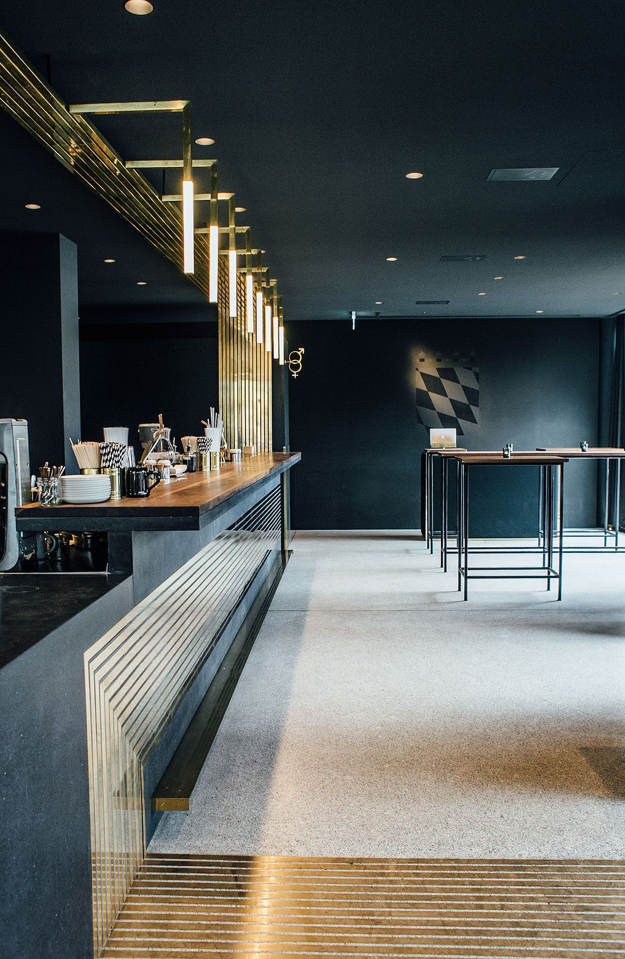 Midcentury Timeless Touches Dramatically Frame The Modern Bar In