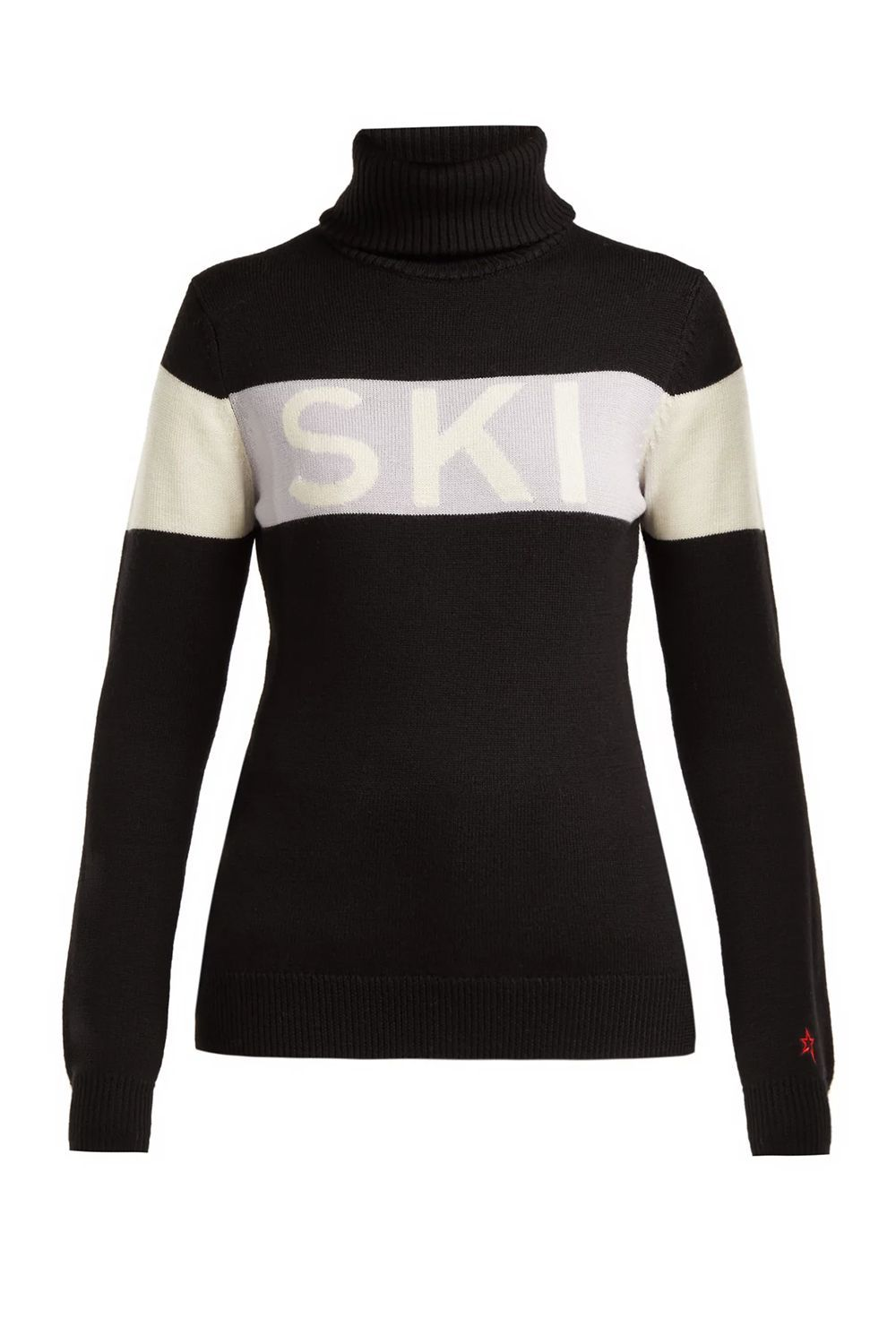 Ski and snowboard sweater on dark heather a stylish jumper for the snow season
