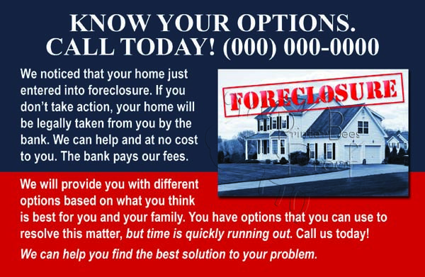 Short Sale Postcards - Foreclosure Postcards- Real Estate