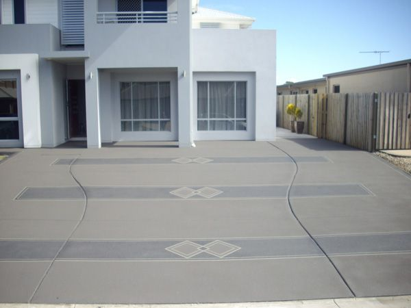 awesome concrete driveway design ideas pictures decorating ideas