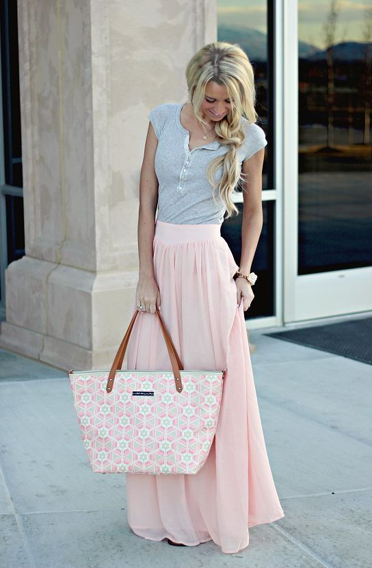 Light Pink Gray Dress