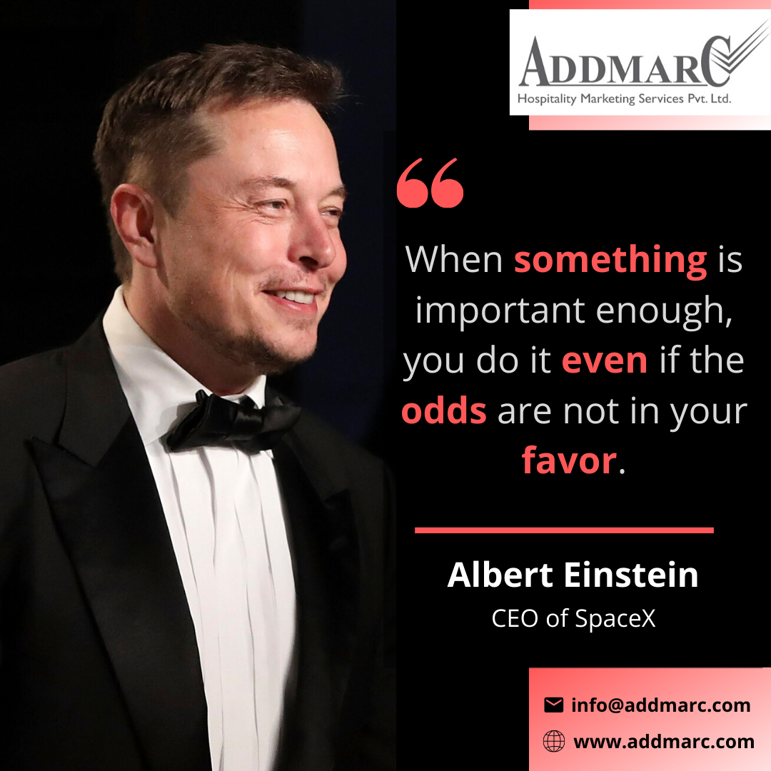 Quote Of The Day Addmarc Hospitality Marketing Services Hospital Marketing Marketing Services Marketing