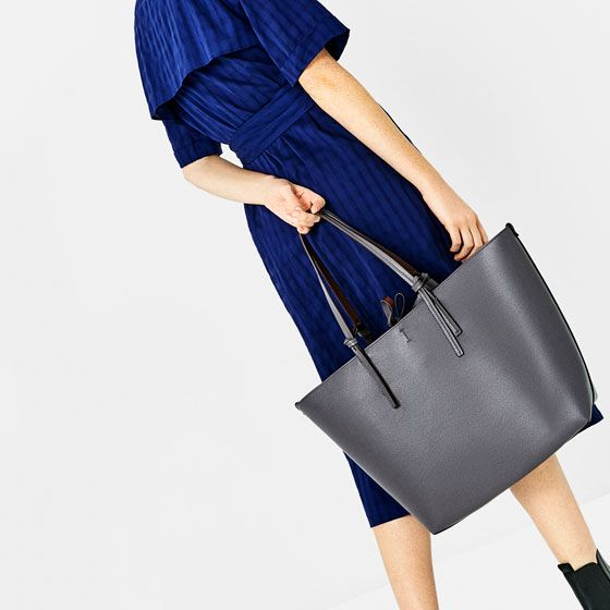 Image 1 of REVERSIBLE TOTE BAG from Zara