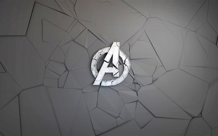 Download Wallpapers The Avengers Creative Logo Destroyed