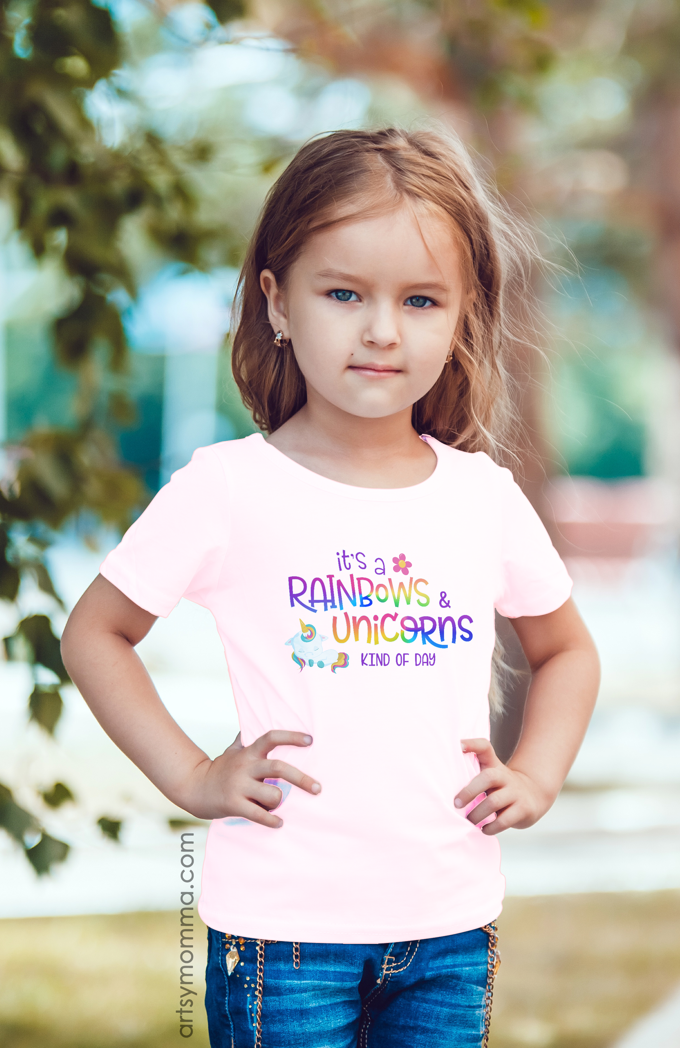 6777583c It's A Rainbow & Unicorns Kind of Day Graphic Tee | T-Shirt Saying for Kids  (affiliate)