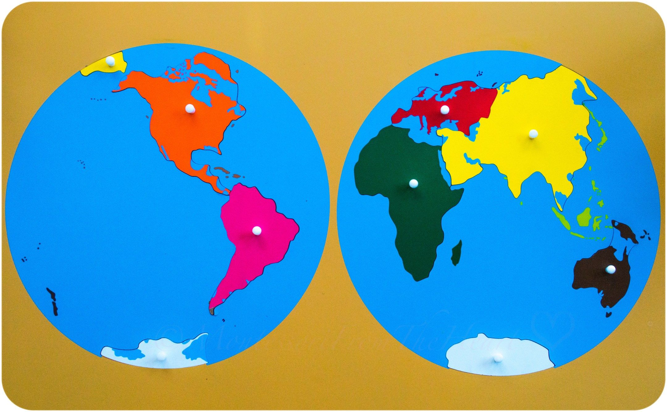 Montessori World puzzle, Montessori World wooden puzzle, Montessori World Contine… | Educational activities for kids, Earth day kindergarten activities, Activities