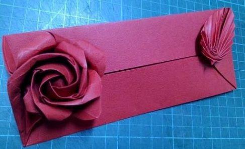 Ornamento origami rose busta origami e papercraft origami club ornamento origami rose busta origami e papercraft origami club mightylinksfo Choice Image