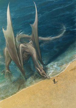 Dragão a beira da praia...