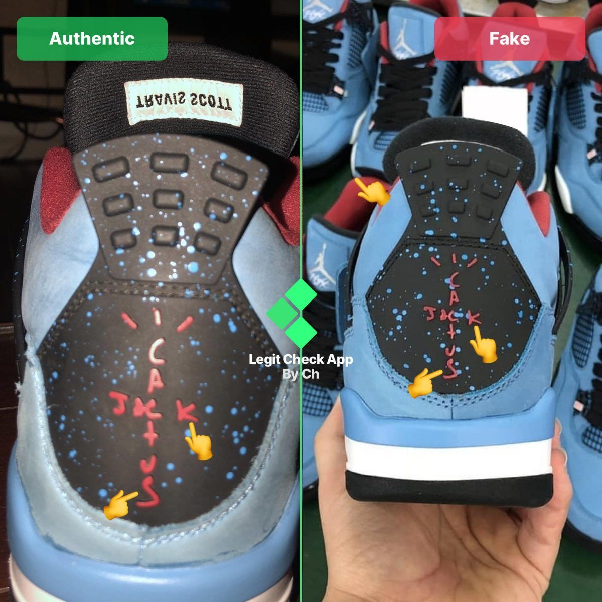 Step 4 Inspect the back heel logos on the Air Jordan 4