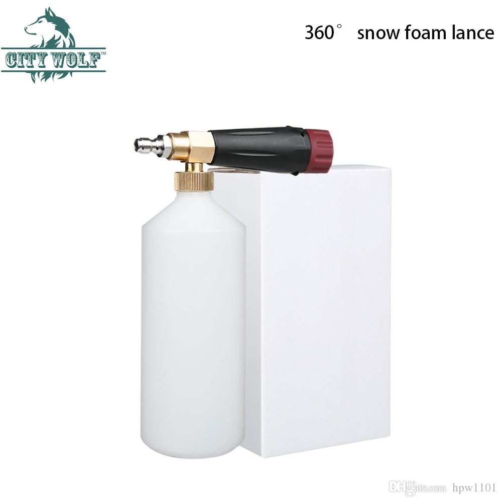 2018 City Wolf High Pressure Snow Foam Lance With 1 4 Quick Connector Disinfection Car Cleaning Equipment Accessor Car Cleaning Car Washer Cleaning Accessories