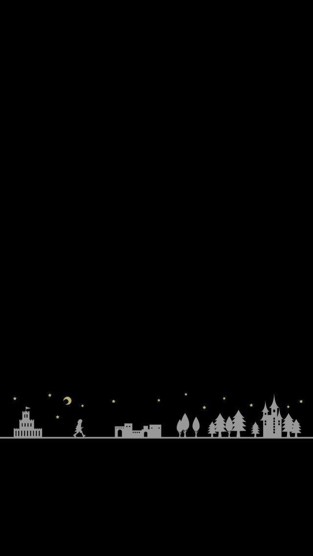 夜の散歩 iPhone5壁紙