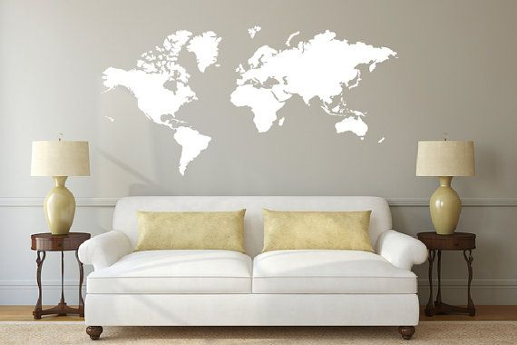World map decal sticker db308 by designed beginningssy living world map decal sticker db308 by designed beginningssy gumiabroncs Image collections