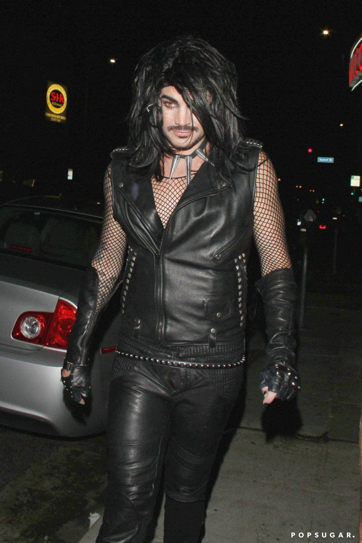Pin for Later: Let Last Year's Celebrity Costumes Inspire Your Halloween Look  Adam Lambert went totally goth for a Halloween party in Hollywood.