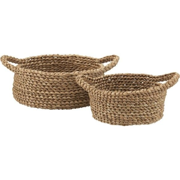 Set Of 2 Batangas Bread Baskets ($33) ❤ liked on Polyvore
