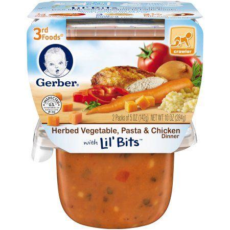 Gerber 3rd Foods Lil Bits Herbed Vegetable Pasta Chicken Dinner