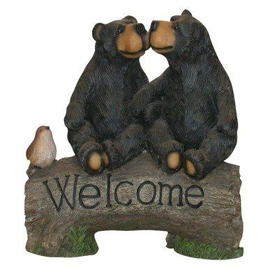 Alpine Two Bears With Welcome Sign By Alpine 48 99 Perfect For