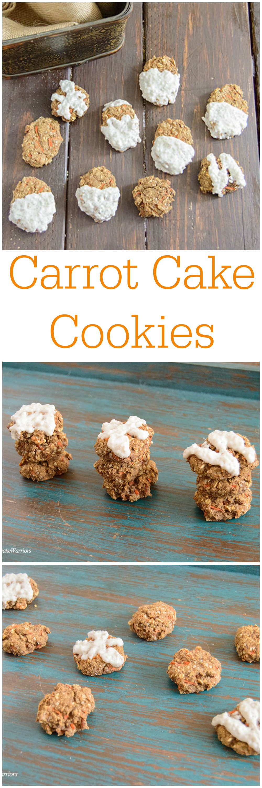 Healthy Carrot Cake Cookies - packed with protein, low fat, gluten free and vegan! These cookies are seriously addicting but healthy!