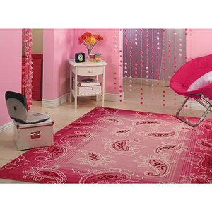 Pretty Paisley Pink Rug From Walmart