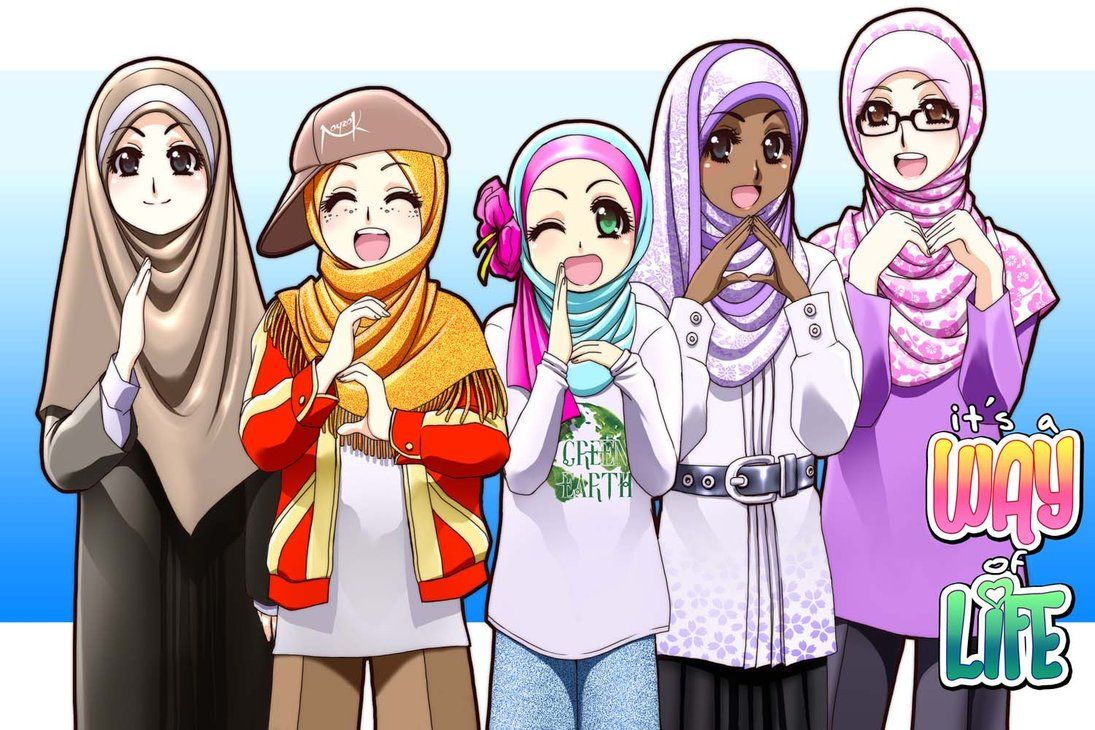 I Am A Muslim Islamic Cartoon Cartoon Girl Images Anime Muslim