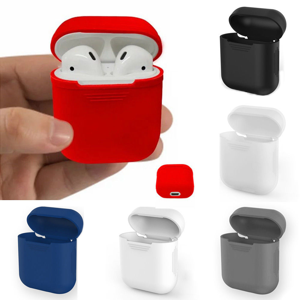Silicone Shock Proof Protective Cover Case Slim Skin For AirPods Apple Earphones