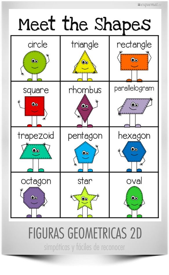 figuras geometricas en ingles buscar con google cole