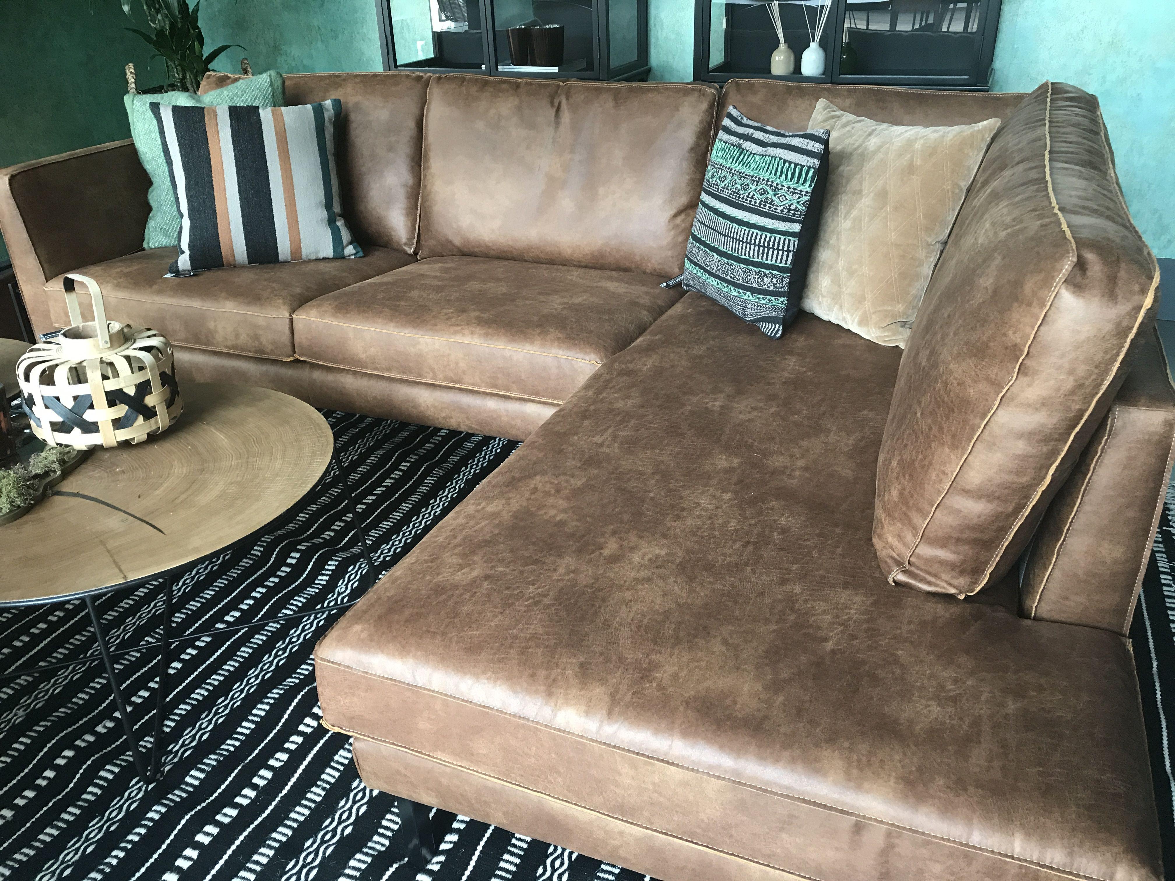 Perugia lounge sofa lifestyle perugia leren hoekbank bruin