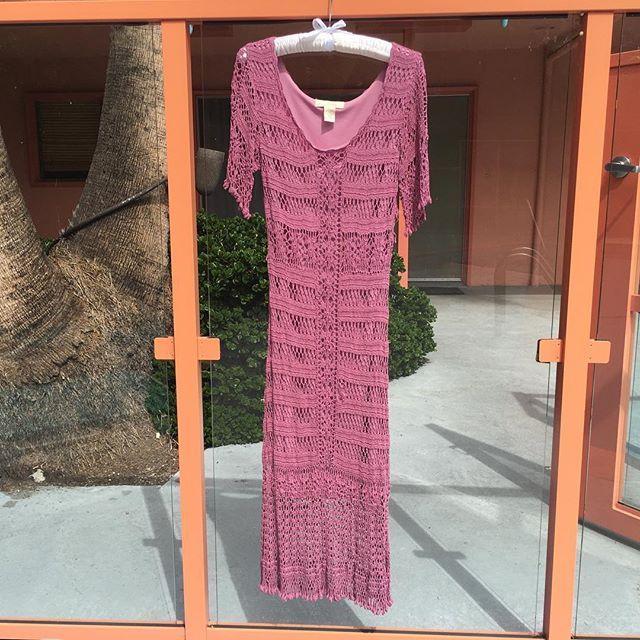Authentic 70s Berry Crochet Gown #CrochetDress #70sFashion