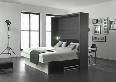 Tweepersoons Bank Bed.Cubist Creations Explore Boone Roomdivider Bedkast Met
