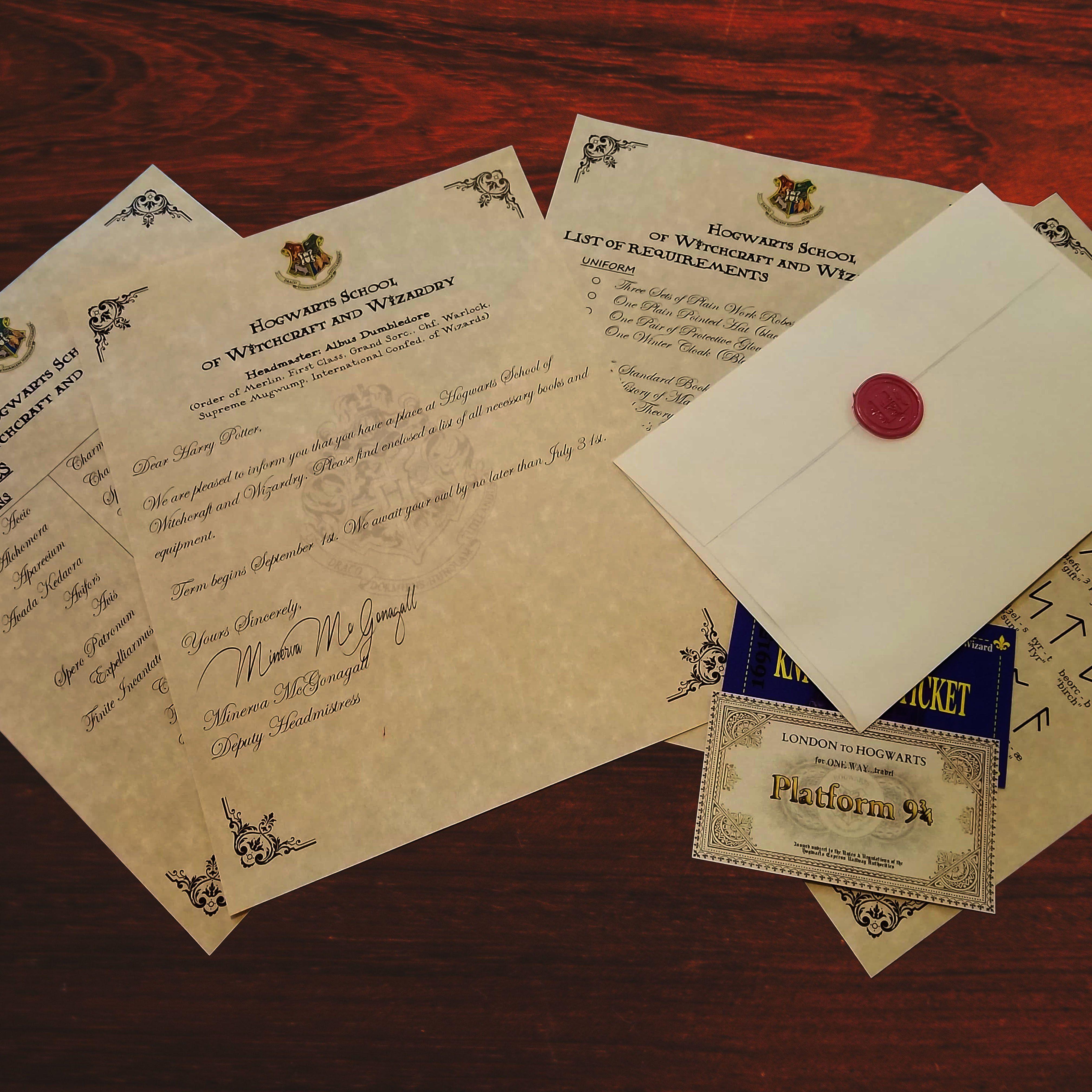 Custom Hogwarts Acceptance Letter.Harry Potter Personalized Hogwarts Acceptance Letter Express