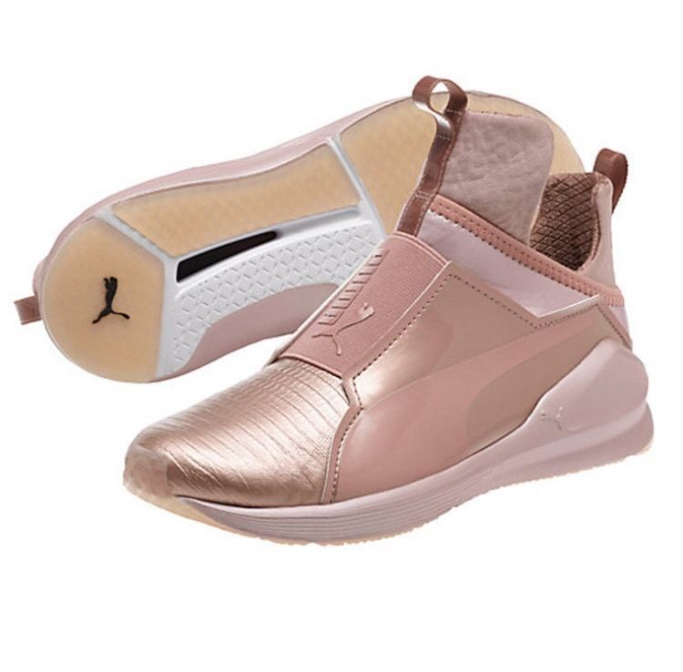 Puma Fierce Metallic Women's Training Shoes Rose Gold