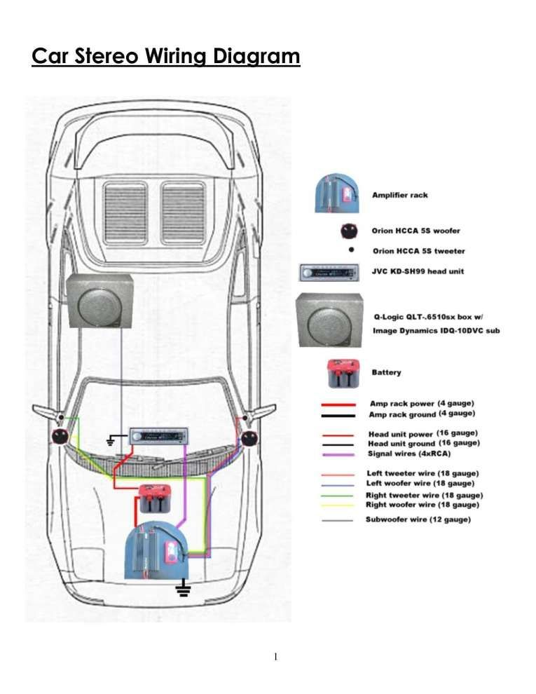 Car Crossover Wiring Diagram and Bose Car Amplifier Wiring