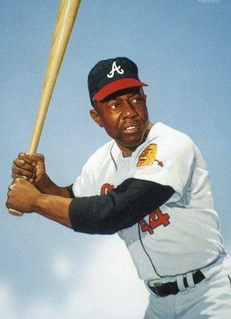 Hank Aaron Right Fielder Hank Aaron Best Baseball Player Mlb Uniforms