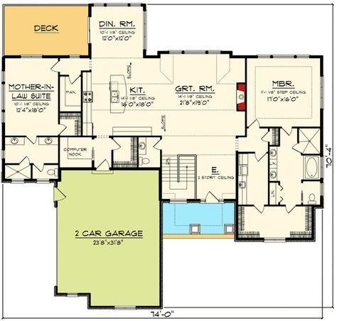 Plan 89921AH: Prairie Ranch House Plan