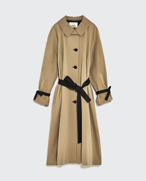 c4f4e85b Image 8 of STUDIO TRENCH COAT WITH CONTRASTING BELT from Zara   I ...