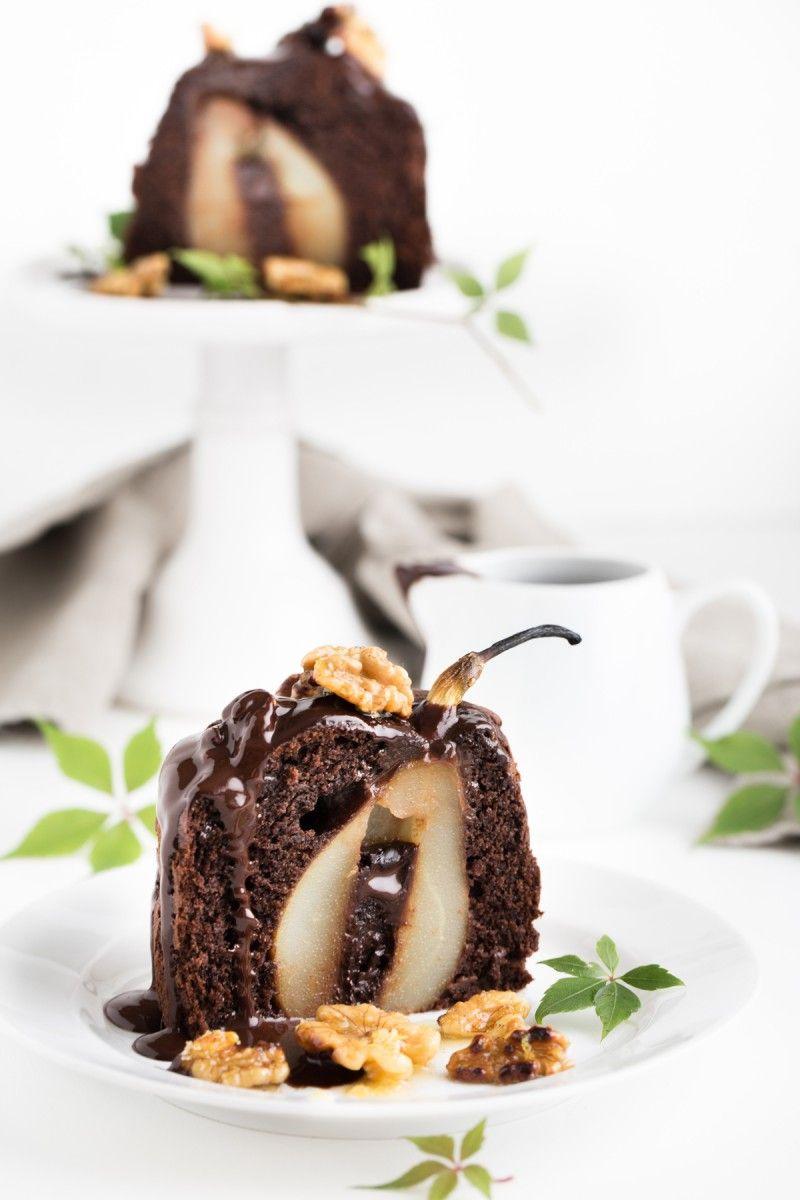 Schokoladen Birnenkuchen Mit Walnussen Backen