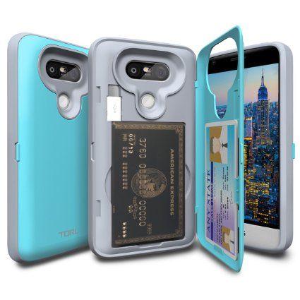new concept 77f17 87543 Amazon.com: LG G5 Case, TORU [CX PRO] G5 Wallet Case - [CARD SLOT ...