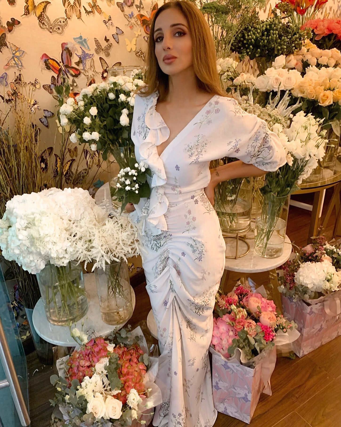 Printed Maxi Victorian dress, Bridesmaid dresses, Bridesmaid