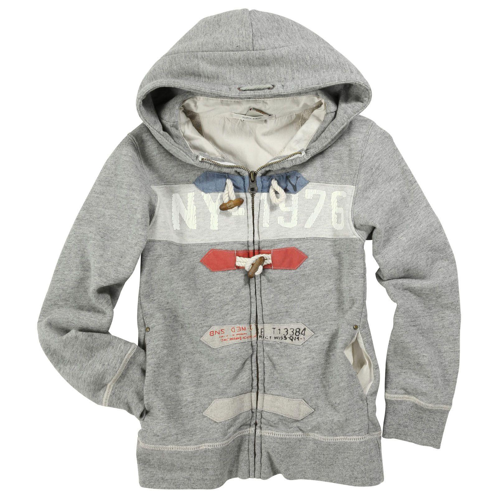 9b6db2bd2 Scotch   Soda Heather grey flannelette hoodie Grey - 32791