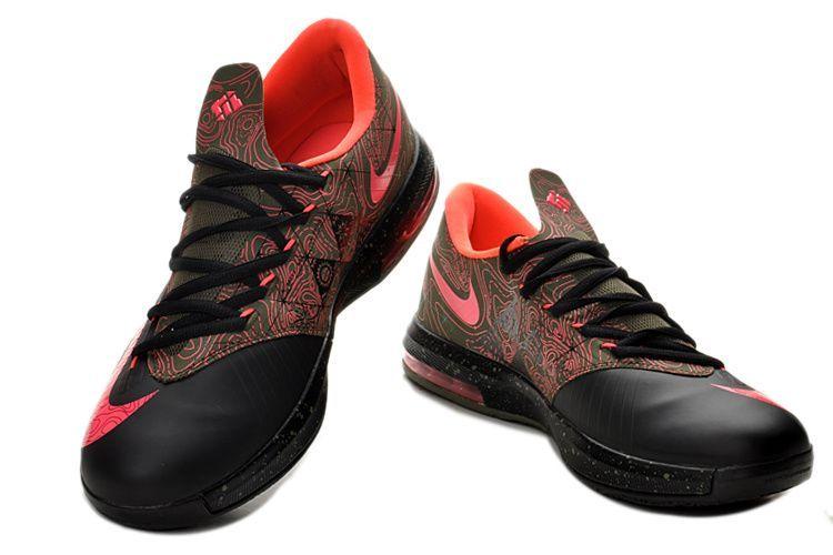 ff0cbab30df5 Mens Nike KD VI (6) Black-Atomic Pink